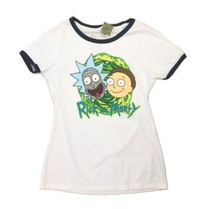 Rick and Morty Women's Graphic Ringer Tshirt
